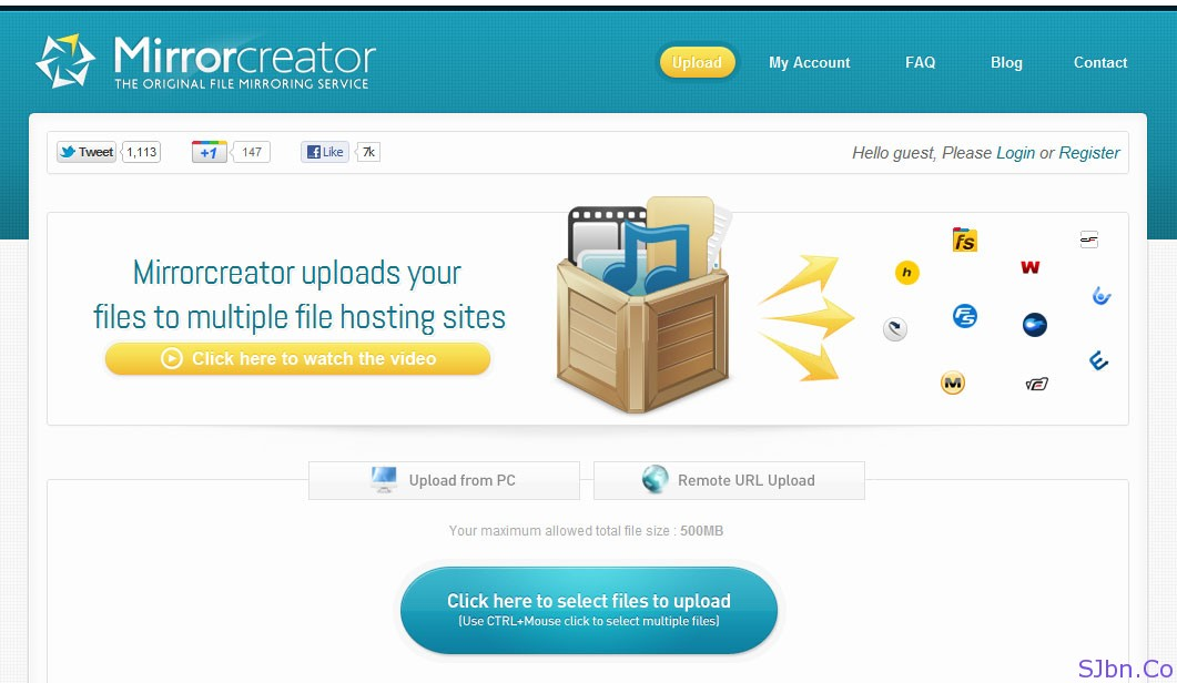 Mirrorcreator - Upload files to multiple file sharing sites