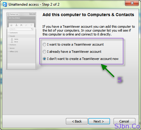 TeamViewer - Add this computer to Computers & Contacts