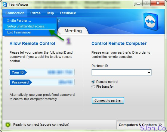 TeamViewer - Connection -- Setup Unattended access…