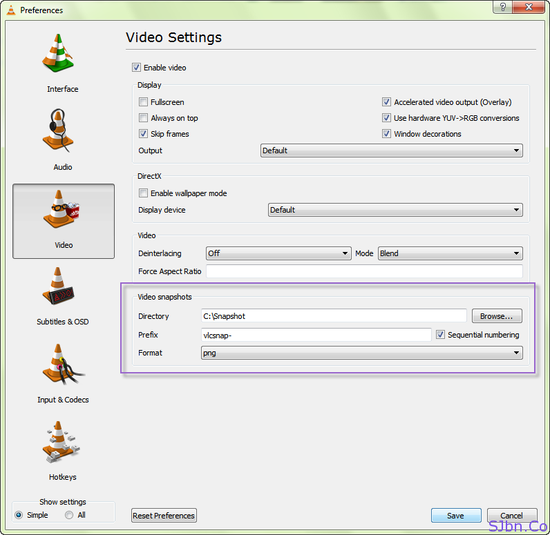 VLC Media Player Video - Preferences