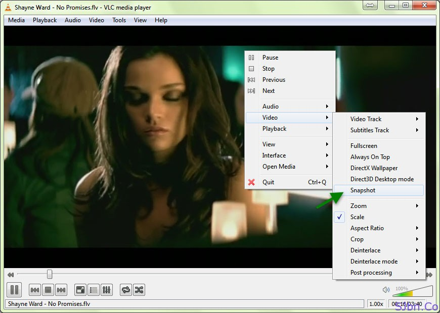 VLC Media Player - Video -- Snapshot