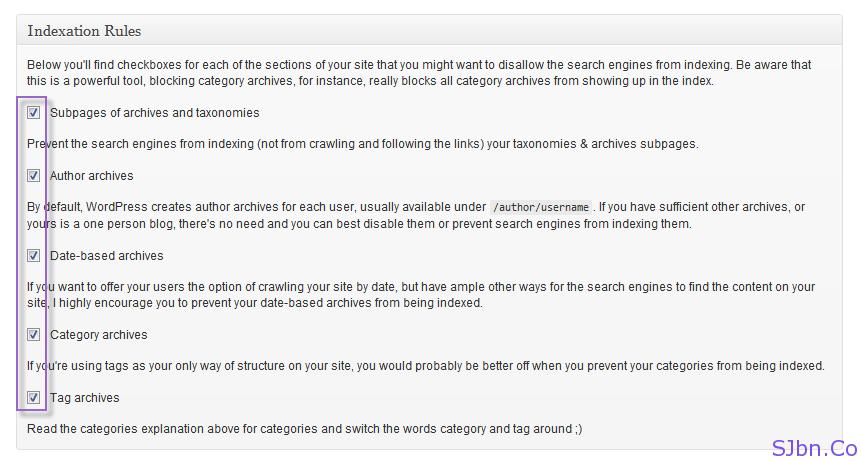 Yoast WordPress SEO - Indexation - Indexation Rules