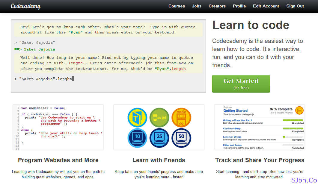 Codecademy - Learn To Code