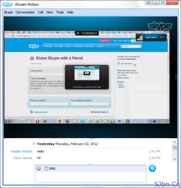 Share Your Computer Screen Using Skype