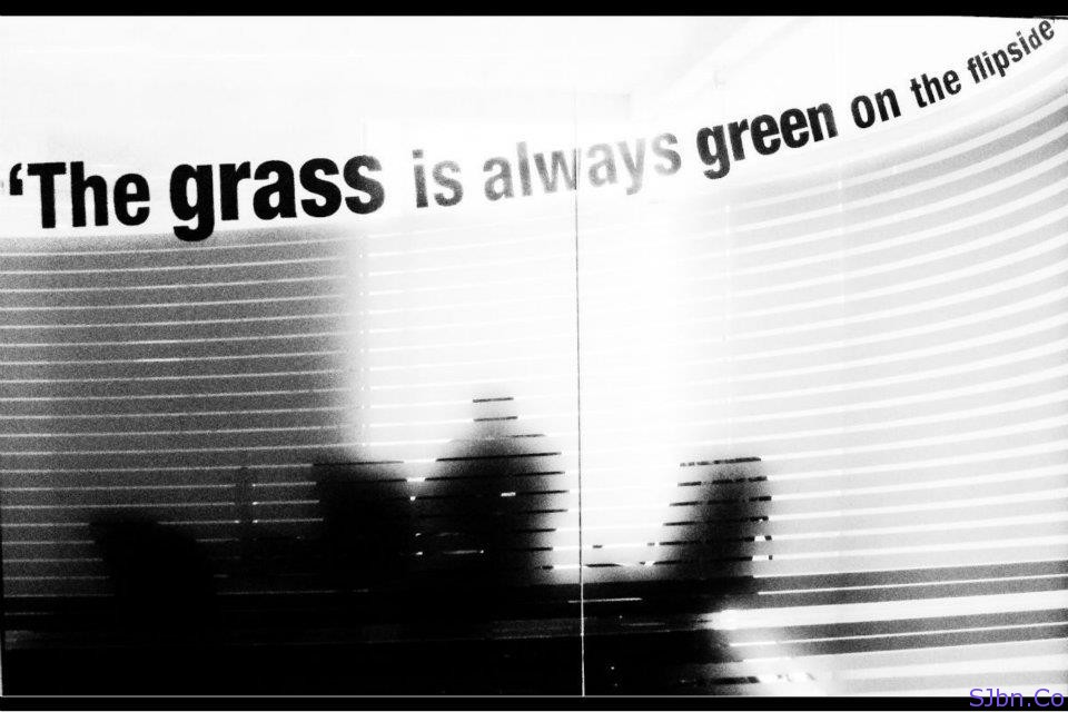 The grass is always green on the flipside. - flip quote