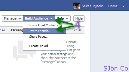 Facebook - Build Audience -- Invite Friends