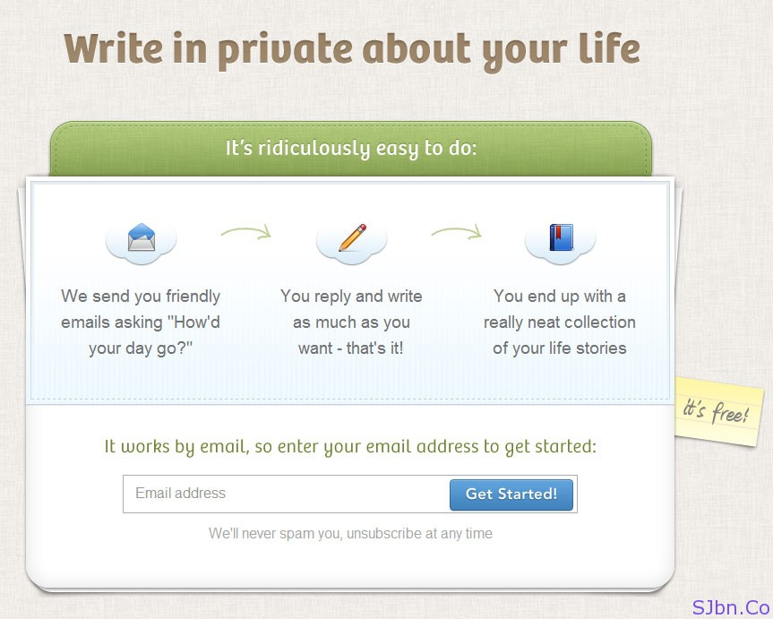 OhLife - Write in private about your life