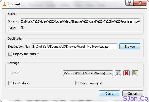 VLC - Convertor - Start